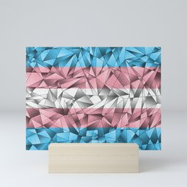 Abstract Transgender Flag Mini Art Print