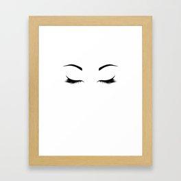 Lashes Framed Art Print