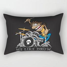 Me Like Drum. Wild Drummer Cartoon Illustration Rectangular Pillow