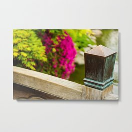 Bridge Post Metal Print