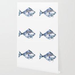 Flat Fish Watercolor Wallpaper