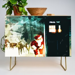 Keep Watching The Tardis Light Credenza