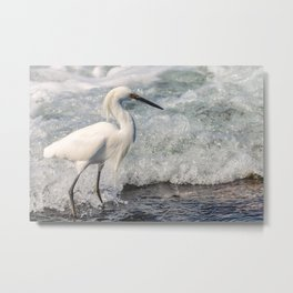 Walk on Wave Metal Print