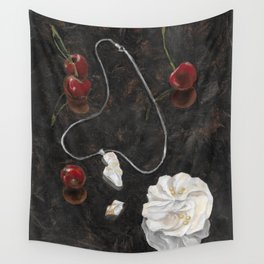 Red Cherries Wall Tapestry