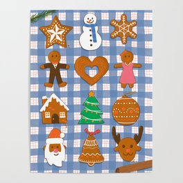 Gingerbread Cookies - Christmas delight Poster