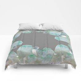 GEMMY CRYSTALS GREY ART Comforters