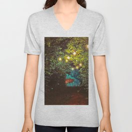 Follow the Lights (Color) Unisex V-Neck