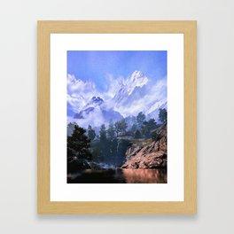 Our beloved mountains Framed Art Print
