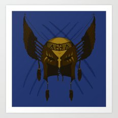 Dances with Wolverines  Art Print
