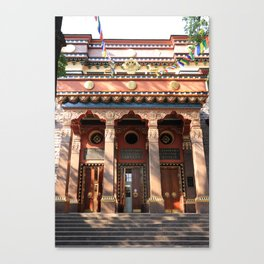 Main Entrance. Buddhist traditional sangha of Russia. Canvas Print