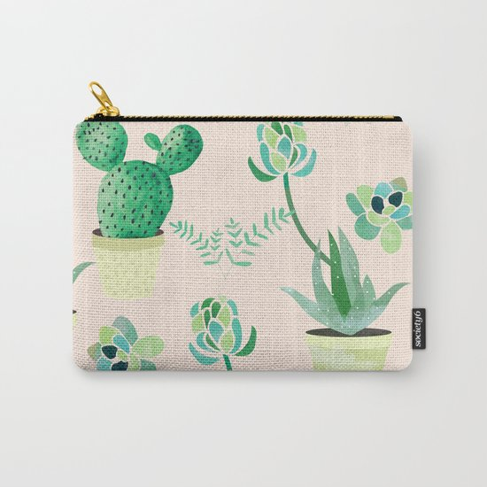 Cacti Pattern #society6 #decor #buyart Carry-All Pouch