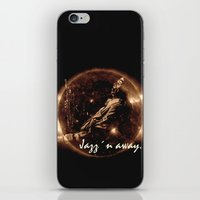 miles davis iPhone & iPod Skins featuring Miles Davis - Jazz´n away by ARTito