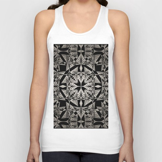 Art Deco 42 Black and gray ornament . Unisex Tank Top