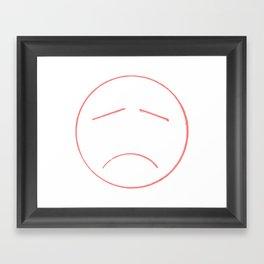 Unsmile Framed Art Print