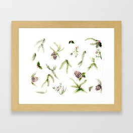 Holiday Plant Extravaganza Framed Art Print