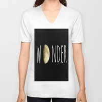 wonder V-neck T-shirts featuring Wonder by ALLY COXON
