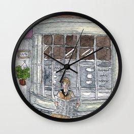 Morning Read Wall Clock