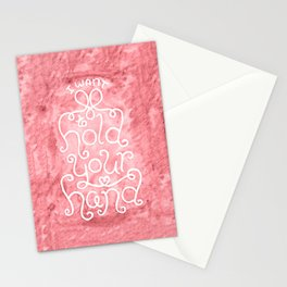 """""""I Want to Hold Your Hand"""" Lettering Stationery Cards"""