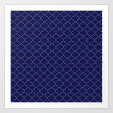 Blue Graphic Flower Art Print