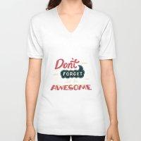 risa rodil V-neck T-shirts featuring DFTBA by Risa Rodil