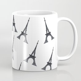 Bonjour Eiffel Tower in Paris Coffee Mug