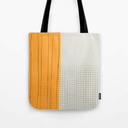 Spots and Stripes orange Tote Bag