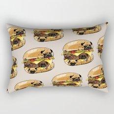 Pugs Burger Rectangular Pillow
