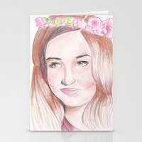 karen Stationery Cards featuring Karen Gillan by Gillian McMahon