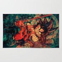 goku Area & Throw Rugs featuring Kid Goku by Sirenphotos