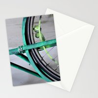 Green bike Stationery Cards