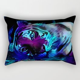 Blacklight Tiger Dreams Rectangular Pillow