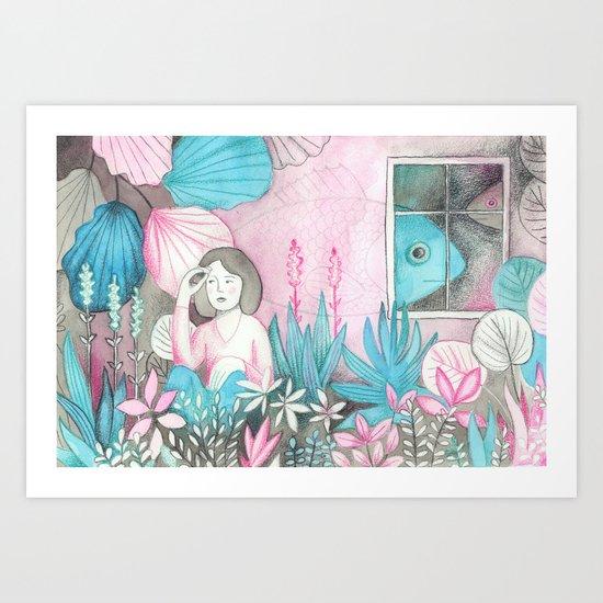 Poissons Art Print