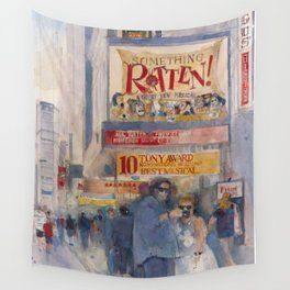 Something Rotten - Broadway Musical - Selfie - New York Theatre District  Wall Tapestry