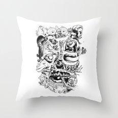 Skull - Inktober 2013 Throw Pillow