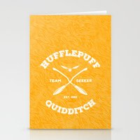 quidditch Stationery Cards featuring Hufflepuff Quidditch by Sharayah Mitchell