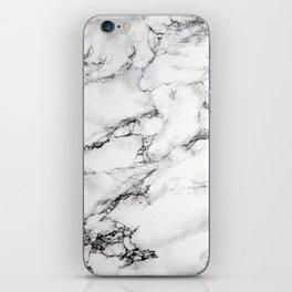 Greyish White Marble iPhone Skin