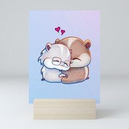 Hamsters HamHams Huggy Hugs Mini Art Print