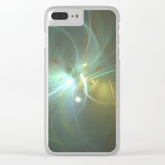 Holiday Glow Fractal Clear iPhone Case