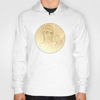 shameless Hoodies featuring Selfie #Shameless - Outline by Justin Wolter