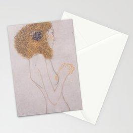 Die Leiden der schwachen Menschen (1902) -Gustav Klimt Stationery Cards