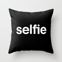 selfie Throw Pillows featuring Selfie by Jaco Haasbroek
