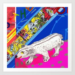 White Bear Art Print