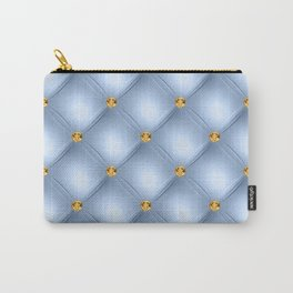 Luxury Tufted Gold Diamond 11 Carry-All Pouch