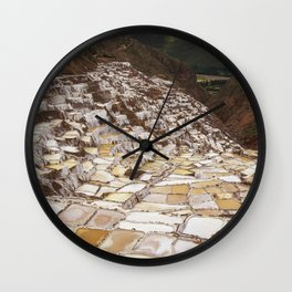 Salina de Maras in Sacred Valley Peru Wall Clock