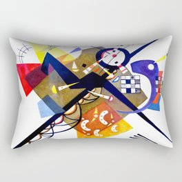 Kandinsky On White II (Auf Weiss) 1923 Artwork Reproduction, Design for Posters, Prints, Tshirts, Me Rectangular Pillow