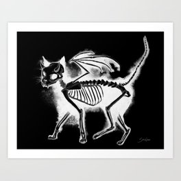 Devil Kitty - inverted Art Print
