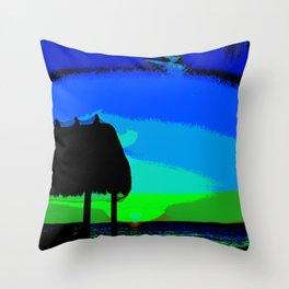 Florida Keys Sunset PA Throw Pillow