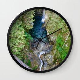 lynn canyon suspension bridge, 2017 Wall Clock
