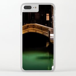 Venice canals, Travel to Venice, Italy Clear iPhone Case