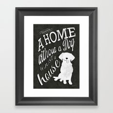 Home with Dog Framed Art Print